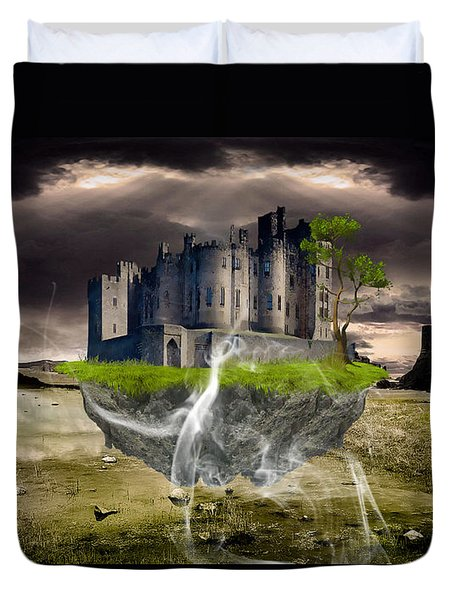 Floating Castle Duvet Cover by Marvin Blaine