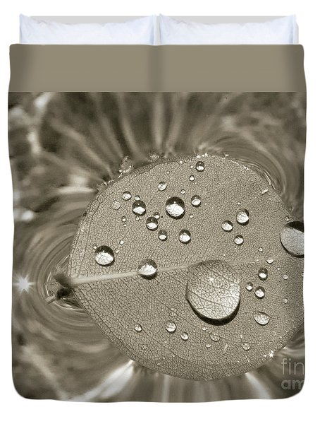 Floating Droplets Duvet Cover