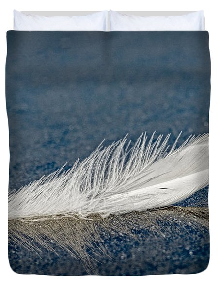 Floating Feather Reflection Duvet Cover
