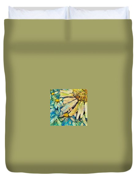 Floating Flowers Duvet Cover