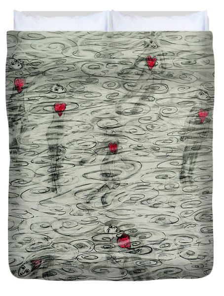 Floating Hearts #10 Duvet Cover