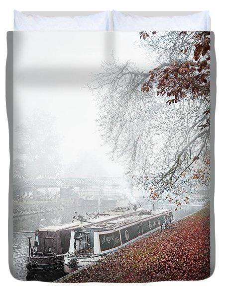 Floating Homes Of  River Cam Duvet Cover by Eden Baed