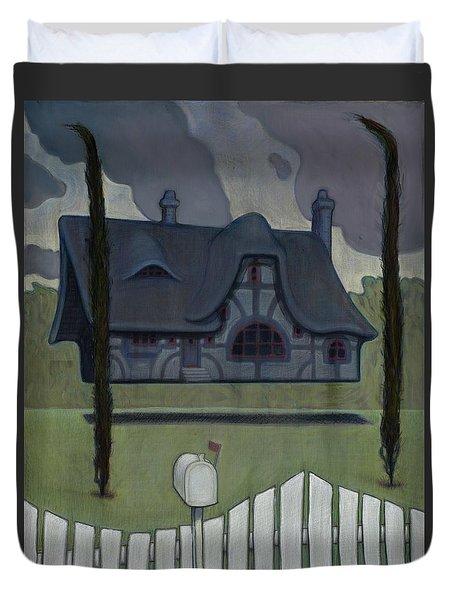 Floating House Duvet Cover