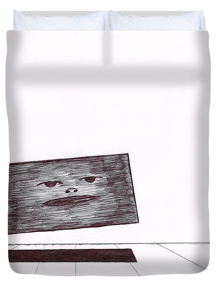 Floating In A Surreal Landscape Duvet Cover