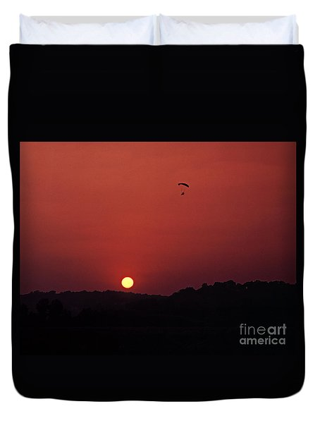 Floating In Space Duvet Cover by Thomas Bomstad