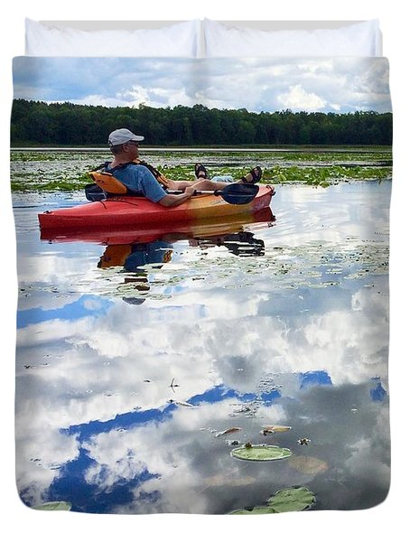 Floating In The Sky Duvet Cover