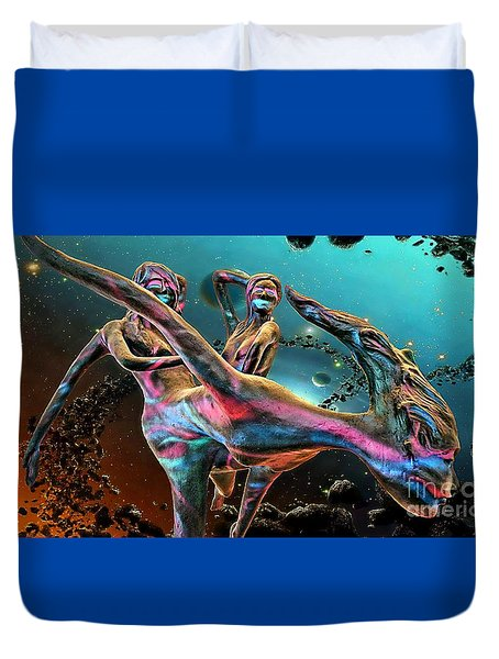 Floating In The Universe Duvet Cover
