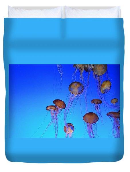 Floating Jellyfish Ballet Duvet Cover
