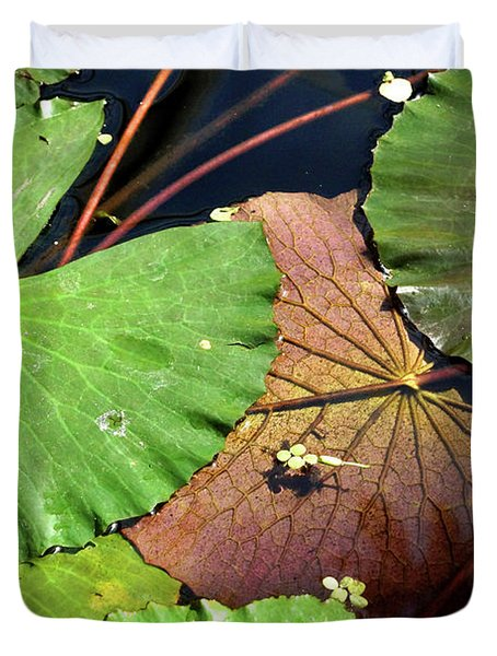 Floating Lily Pads Duvet Cover