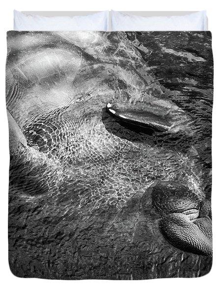 Floating Manatee Duvet Cover