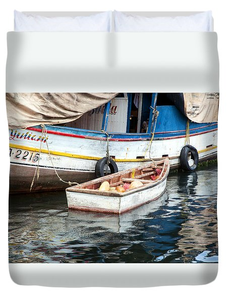 Floating Market Duvet Cover