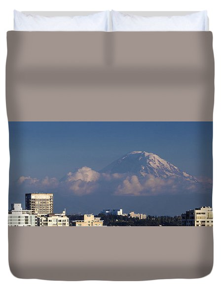 Floating Mountain Duvet Cover