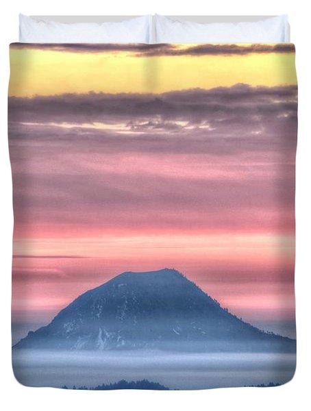 Floating Mountain Duvet Cover