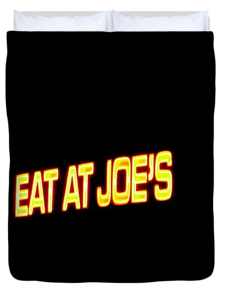Floating Neon - Eat At Joes Duvet Cover