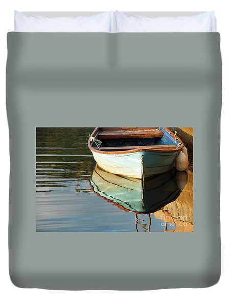 Duvet Cover featuring the photograph Floating On Blue 44 by Wendy Wilton