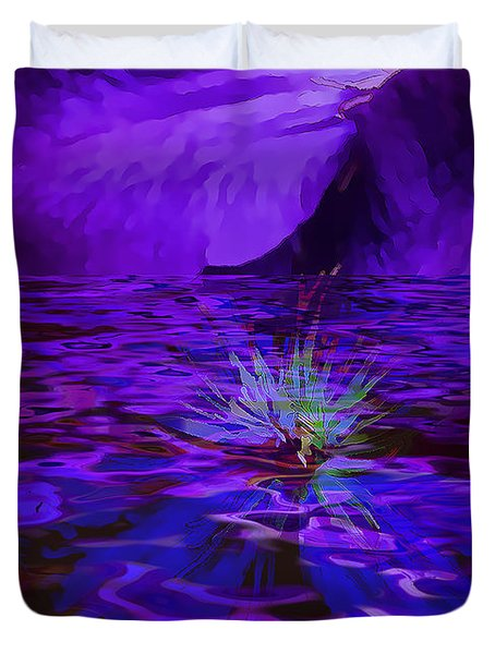 Floating On The Water Duvet Cover by Nancy Marie Ricketts