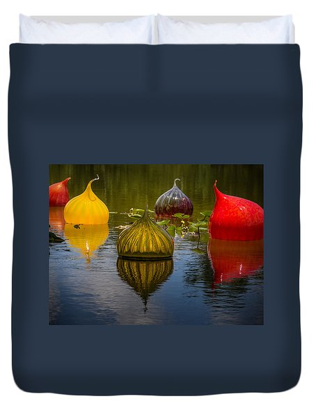 Floating Orbs Duvet Cover