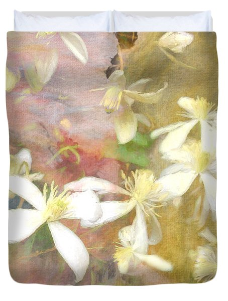 Floating Petals Duvet Cover by Colleen Taylor
