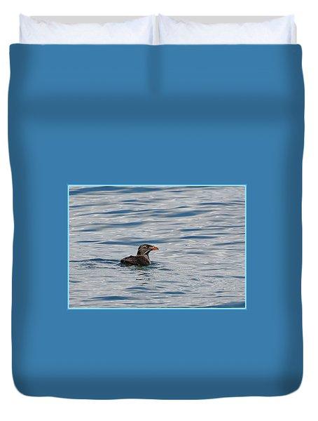 Floating Rhino Duvet Cover