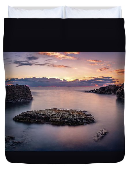 Floating Rocks Duvet Cover