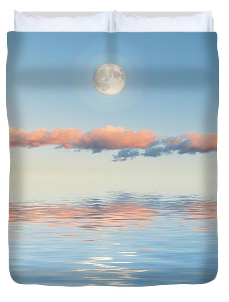 Floating Through Blue Duvet Cover by Jerry McElroy