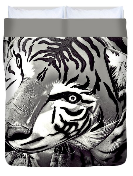 Floating Tiger Duvet Cover