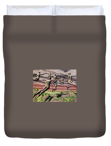 Flock Duvet Cover by Leo Mazzeo