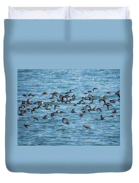 Flock Of Birds Duvet Cover