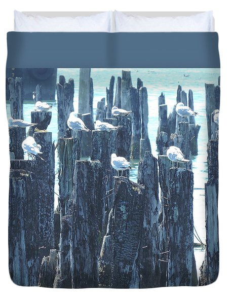 Flocking Together Duvet Cover