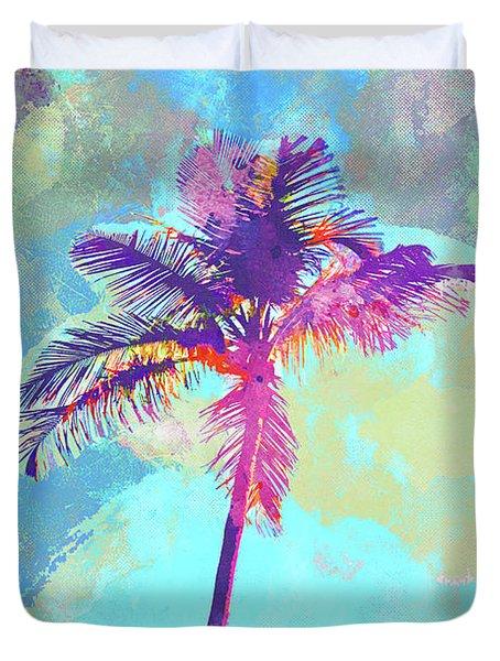 Florida Palm Duvet Cover