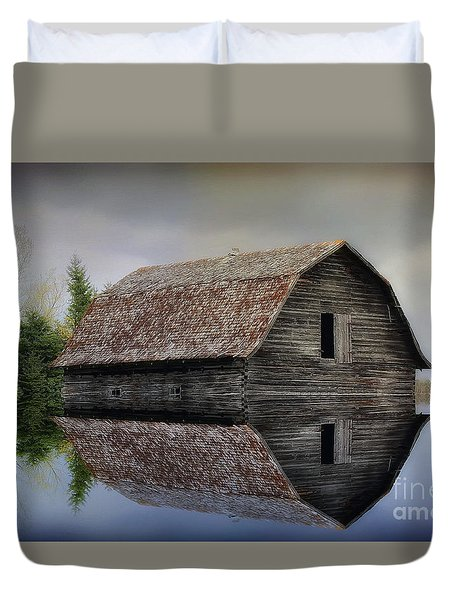 Flooded Barn Duvet Cover