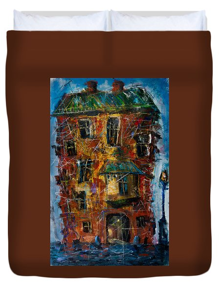 Flooded House Duvet Cover