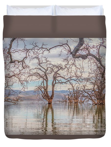 Flooded Trees At Los Vaqueros Duvet Cover
