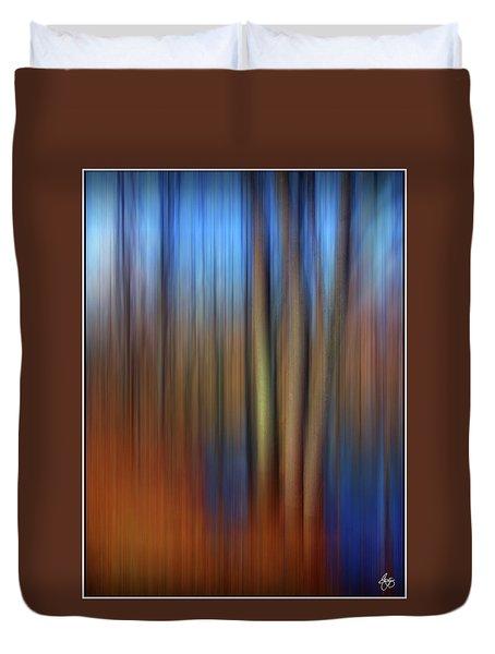 Floodplain Forest Abstract Duvet Cover