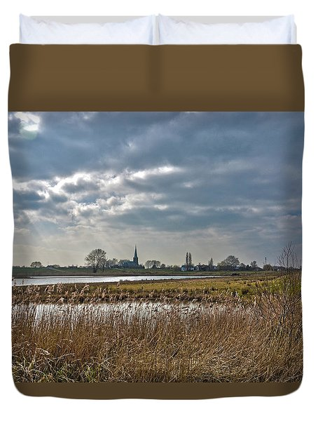 Floodplains Near Culemborg Duvet Cover