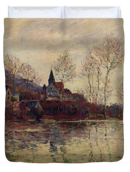 Floods At Giverny Duvet Cover by Claude Monet