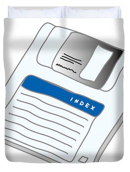 Floppy Disk Duvet Cover
