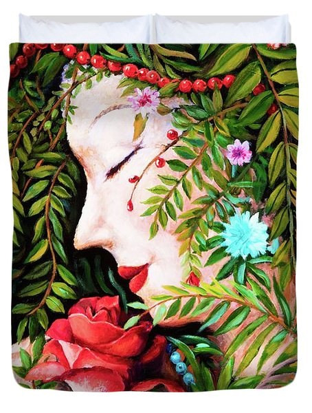 Flora-da-vita Duvet Cover