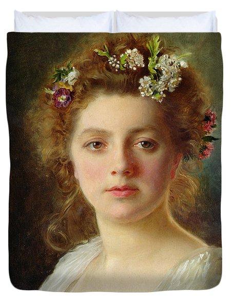 Flora Duvet Cover by Gustave Jacquet