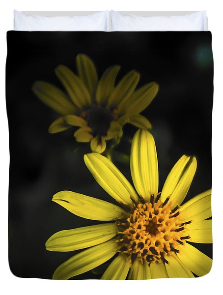 Flora In Yellow Duvet Cover