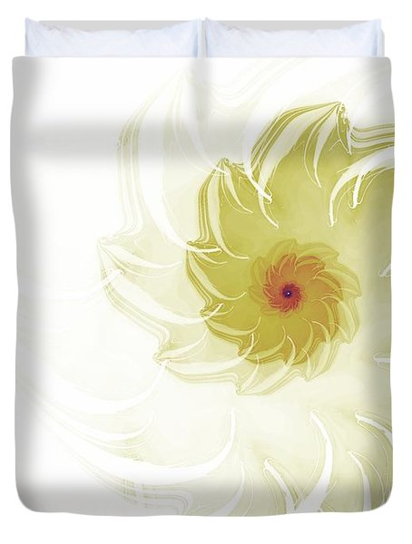 Duvet Cover featuring the digital art Flora by Richard Ortolano