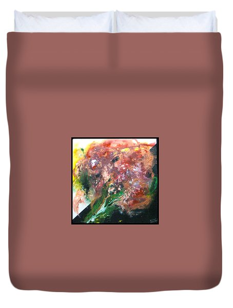 Floral Abstract Duvet Cover by Jan Wendt