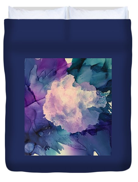 Floral Abstract Duvet Cover by Suzanne Canner