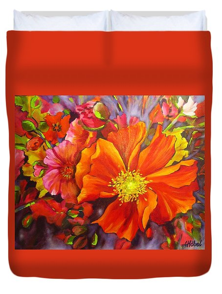 Floral Abundance Duvet Cover by Chris Hobel