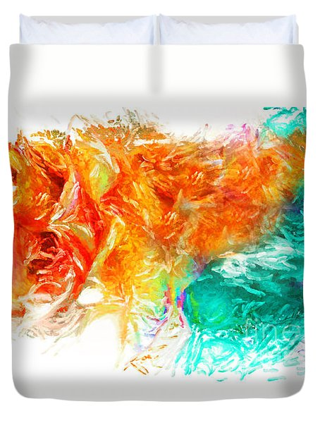 Duvet Cover featuring the photograph Floral by Alfonso Garcia