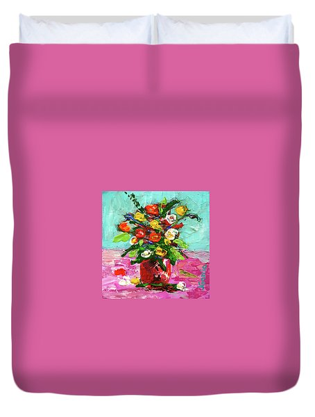 Floral Arrangement Duvet Cover