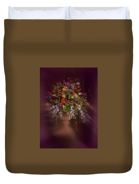 Duvet Cover featuring the photograph Floral Arrangement No. 2 by Richard Cummings