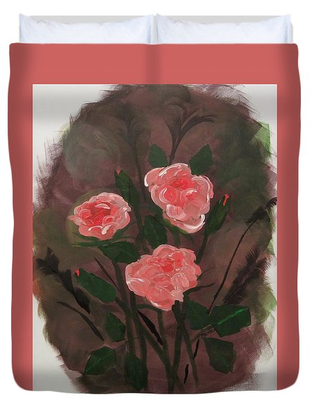 Floral Art Duvet Cover