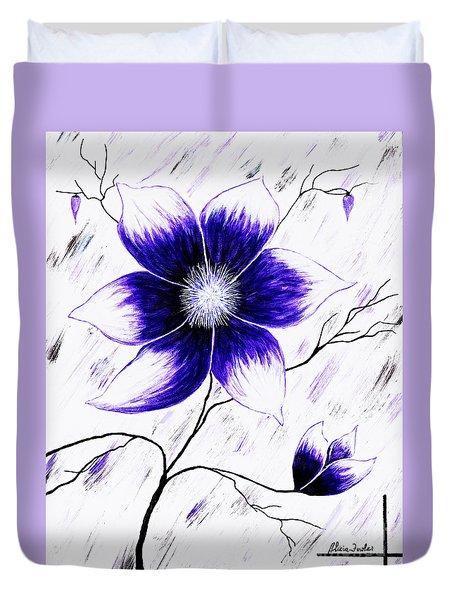 Floral Awakening Duvet Cover