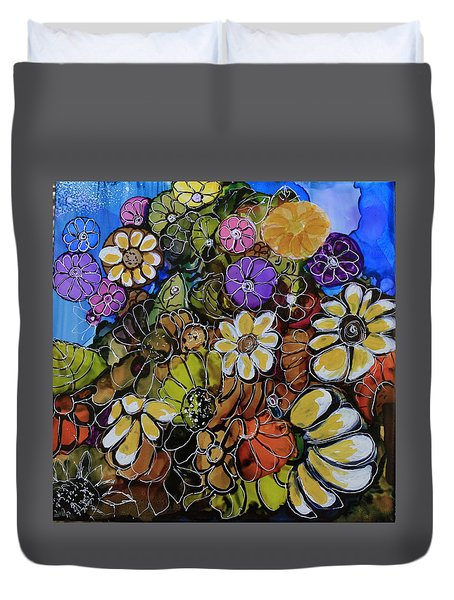 Floral Boquet Duvet Cover by Suzanne Canner